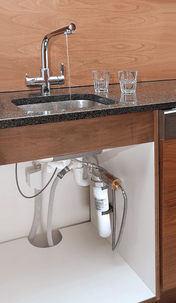 Trinkwasserfilter installiert (permaster sanus PT-VP 10)
